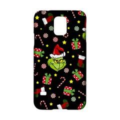 Grinch Pattern Samsung Galaxy S5 Hardshell Case  by Valentinaart