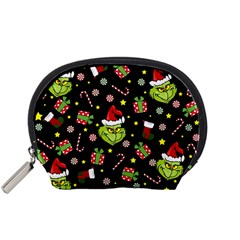 Grinch Pattern Accessory Pouches (small)  by Valentinaart