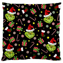 Grinch Pattern Standard Flano Cushion Case (one Side) by Valentinaart