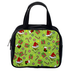Grinch Pattern Classic Handbags (one Side) by Valentinaart