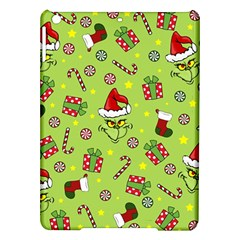Grinch Pattern Ipad Air Hardshell Cases by Valentinaart
