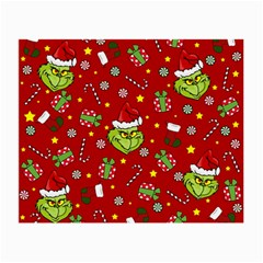 Grinch Pattern Small Glasses Cloth by Valentinaart