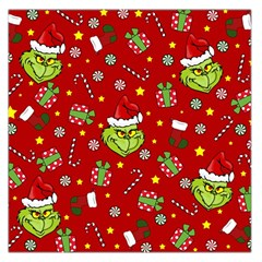 Grinch Pattern Large Satin Scarf (square) by Valentinaart