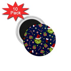 Grinch Pattern 1 75  Magnets (10 Pack)  by Valentinaart