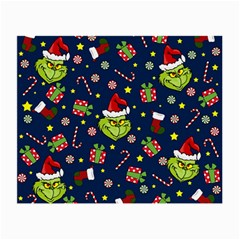 Grinch Pattern Small Glasses Cloth (2 Side) by Valentinaart