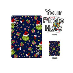 Grinch Pattern Playing Cards 54 (mini)  by Valentinaart