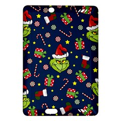 Grinch Pattern Amazon Kindle Fire Hd (2013) Hardshell Case by Valentinaart