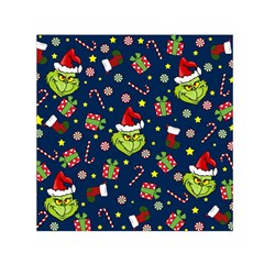 Grinch Pattern Small Satin Scarf (square) by Valentinaart