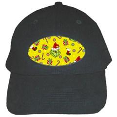 Grinch Pattern Black Cap by Valentinaart