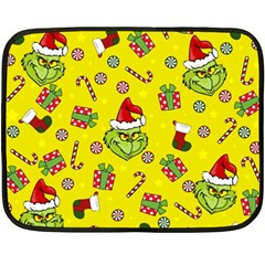 Grinch Pattern Fleece Blanket (mini) by Valentinaart