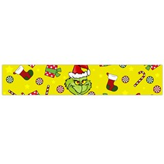 Grinch Pattern Large Flano Scarf  by Valentinaart