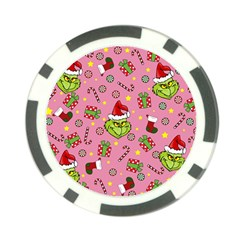 Grinch Pattern Poker Chip Card Guard by Valentinaart