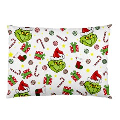 Grinch Pattern Pillow Case (two Sides) by Valentinaart