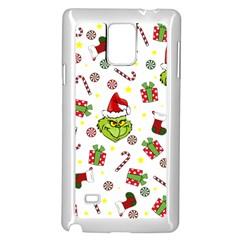 Grinch Pattern Samsung Galaxy Note 4 Case (white) by Valentinaart