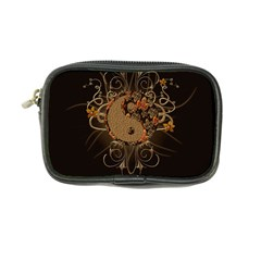 The Sign Ying And Yang With Floral Elements Coin Purse by FantasyWorld7