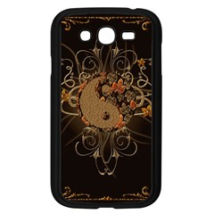 The Sign Ying And Yang With Floral Elements Samsung Galaxy Grand Duos I9082 Case (black) by FantasyWorld7