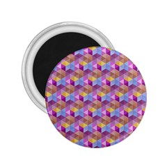 Hexagon Cube Bee Cell Pink Pattern 2 25  Magnets by Cveti
