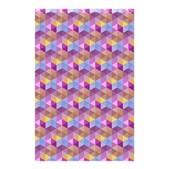 Hexagon Cube Bee Cell Pink Pattern Shower Curtain 48  X 72  (small)  by Cveti