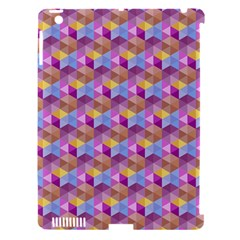 Hexagon Cube Bee Cell Pink Pattern Apple Ipad 3/4 Hardshell Case (compatible With Smart Cover) by Cveti
