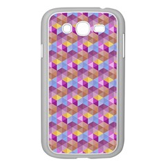 Hexagon Cube Bee Cell Pink Pattern Samsung Galaxy Grand Duos I9082 Case (white) by Cveti