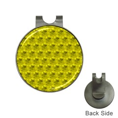 Hexagon Cube Bee Cell  Lemon Pattern Hat Clips With Golf Markers by Cveti