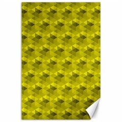 Hexagon Cube Bee Cell  Lemon Pattern Canvas 24  X 36  by Cveti