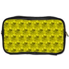 Hexagon Cube Bee Cell  Lemon Pattern Toiletries Bags 2 Side by Cveti