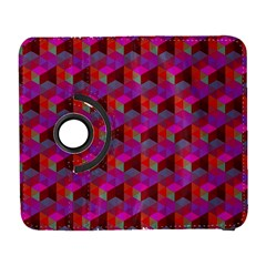 Hexagon Cube Bee Cell  Red Pattern Galaxy S3 (flip/folio) by Cveti