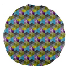 Hexagon Cube Bee Cell 1 Pattern Large 18  Premium Flano Round Cushions by Cveti