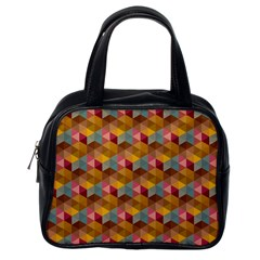 Hexagon Cube Bee Cell 2 Pattern Classic Handbags (one Side) by Cveti