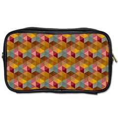 Hexagon Cube Bee Cell 2 Pattern Toiletries Bags 2 Side by Cveti