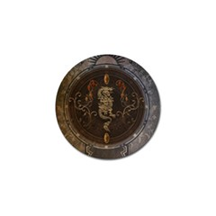 Golden Chinese Dragon On Vintage Background Golf Ball Marker (4 Pack) by FantasyWorld7