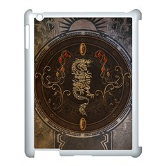 Golden Chinese Dragon On Vintage Background Apple Ipad 3/4 Case (white) by FantasyWorld7