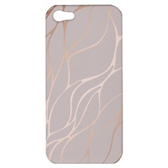 Rose Gold, Wave,beautiful,feminine,chic,elegant,metallic,modren,wedding,pink,trendy Apple Iphone 5 Hardshell Case by 8fugoso