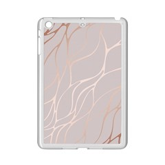 Rose Gold, Wave,beautiful,feminine,chic,elegant,metallic,modren,wedding,pink,trendy Ipad Mini 2 Enamel Coated Cases by 8fugoso