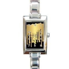Drip Cold Rectangle Italian Charm Watch by 8fugoso