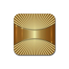 Gold8 Rubber Square Coaster (4 Pack)  by 8fugoso