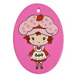 Berry Girl CutiE Oval Ornament