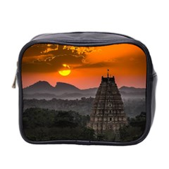 Beautiful Village Of Hampi Mini Toiletries Bag 2 Side by Celenk