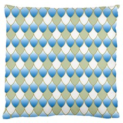 Squama Fish Blue Pattern Large Flano Cushion Case (two Sides) by Cveti
