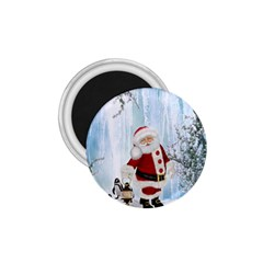 Santa Claus With Funny Penguin 1 75  Magnets by FantasyWorld7