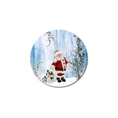 Santa Claus With Funny Penguin Golf Ball Marker (4 Pack) by FantasyWorld7
