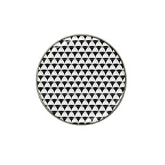 Diamond Pattern White Black Hat Clip Ball Marker by Cveti