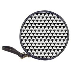 Diamond Pattern White Black Classic 20 Cd Wallets by Cveti