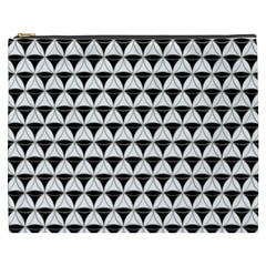 Diamond Pattern White Black Cosmetic Bag (xxxl)  by Cveti