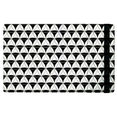 Diamond Pattern White Black Apple Ipad 2 Flip Case by Cveti