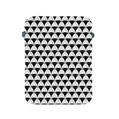 Diamond Pattern White Black Apple Ipad 2/3/4 Protective Soft Cases by Cveti