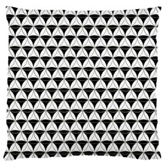 Diamond Pattern White Black Standard Flano Cushion Case (one Side) by Cveti