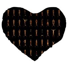 85 Oscars Large 19  Premium Heart Shape Cushions by Celenk