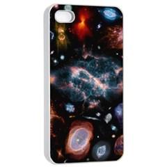 Galaxy Nebula Apple Iphone 4/4s Seamless Case (white) by Celenk